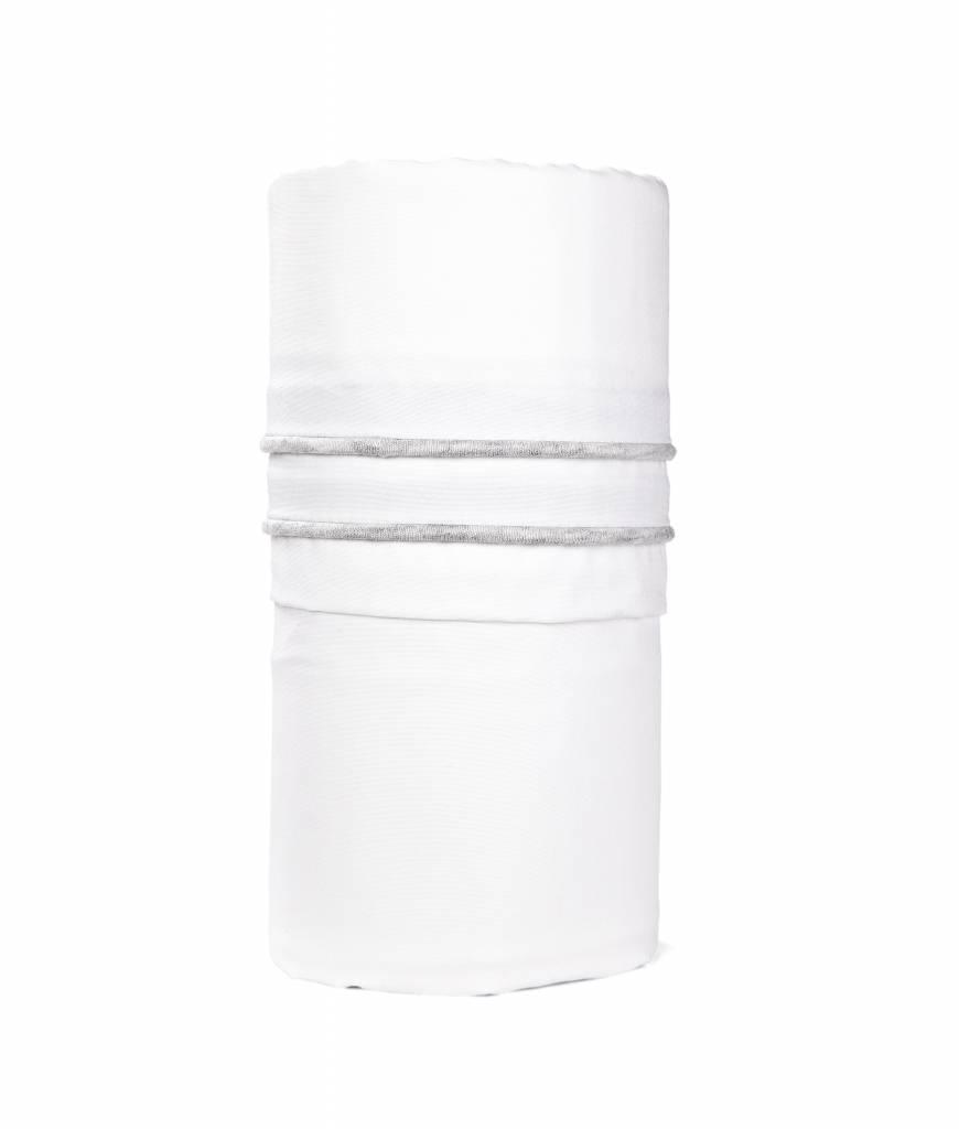Crib sheet Chevron Light Grey Melange-1