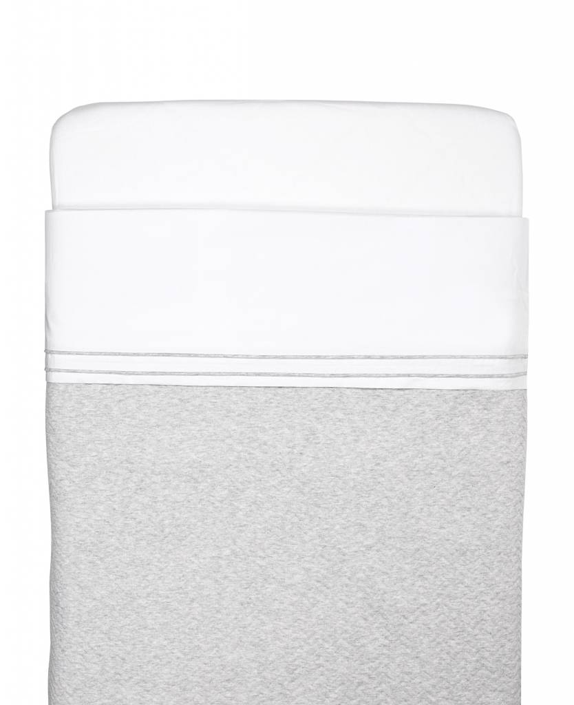 Crib sheet Chevron Light Grey Melange-4