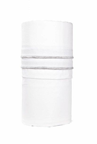 Cot / baby bed sheet Chevron Light Grey Melange