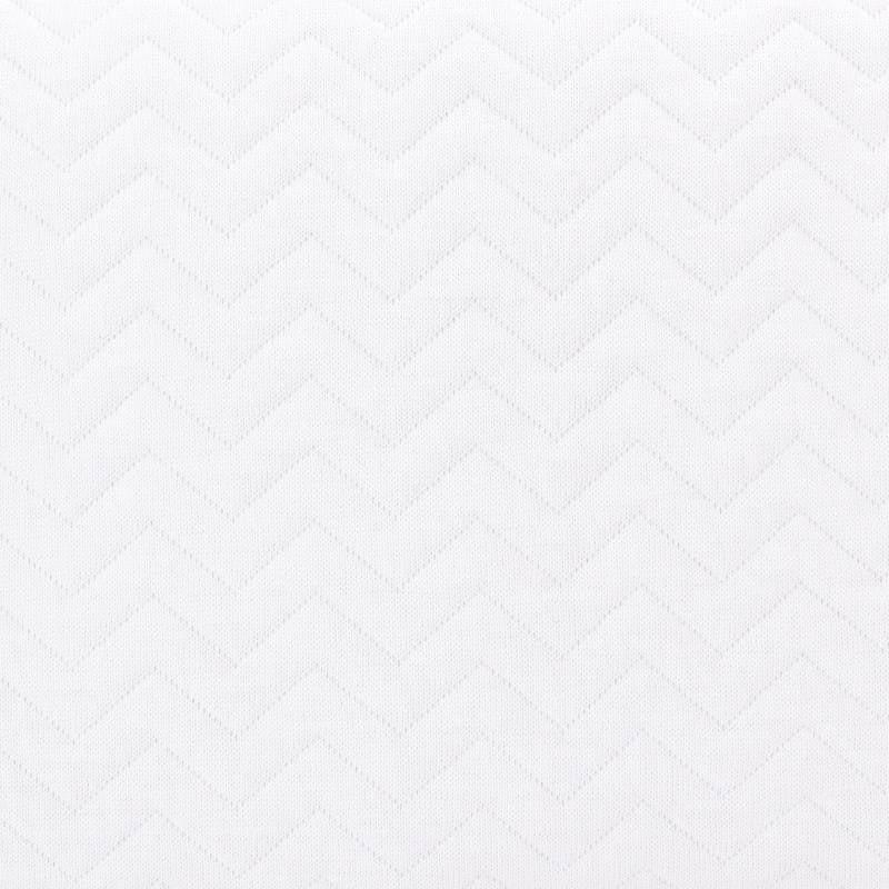 Crib blanket lined Chevron White-5