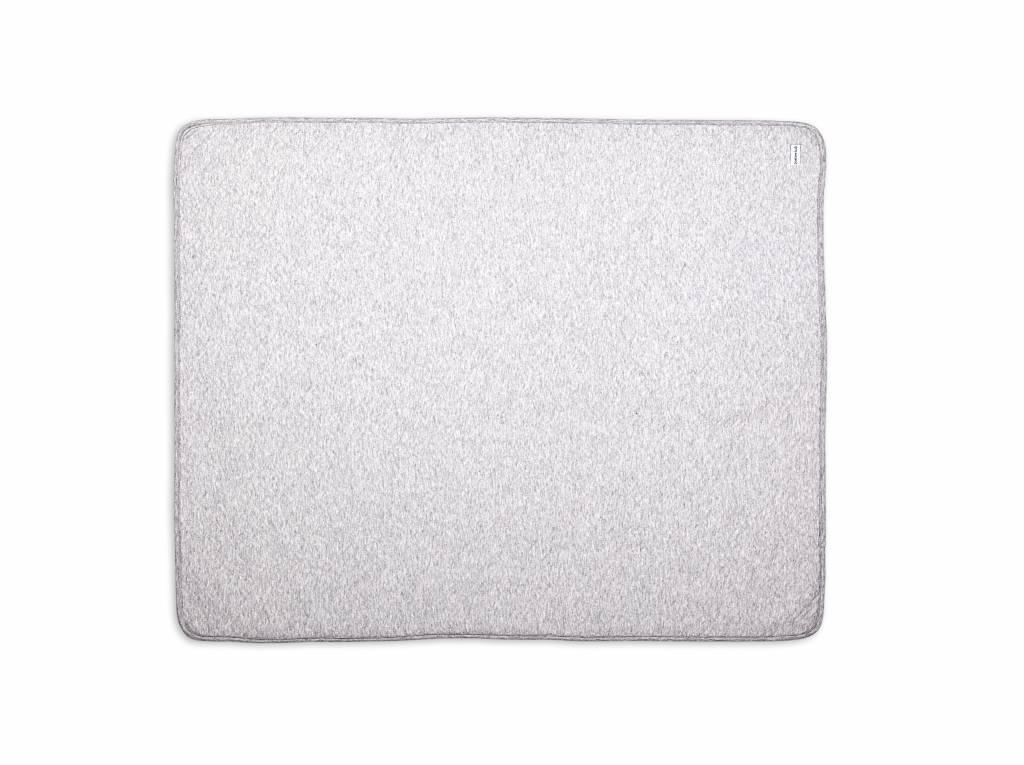 Crib blanket lined Chevron Light Grey Melange-5