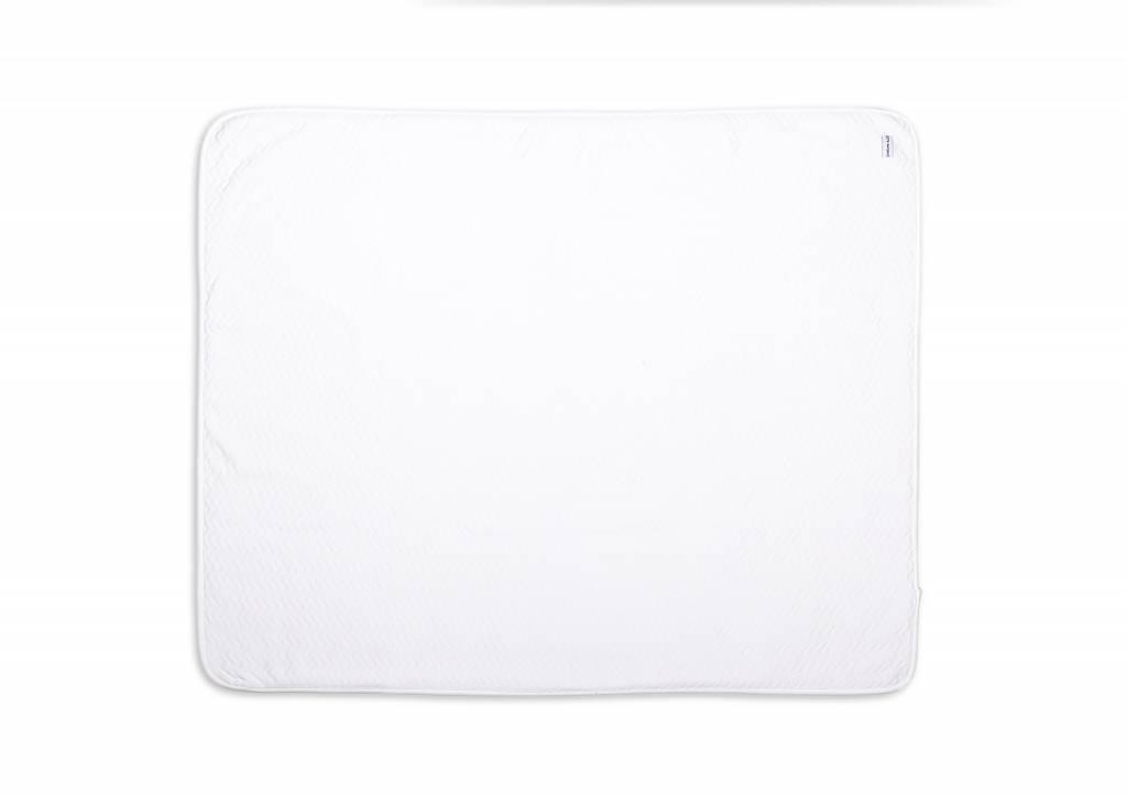 Cot Blanket lined Chevron White-5