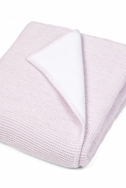 Crib blanket lined with soft sparkle Pink