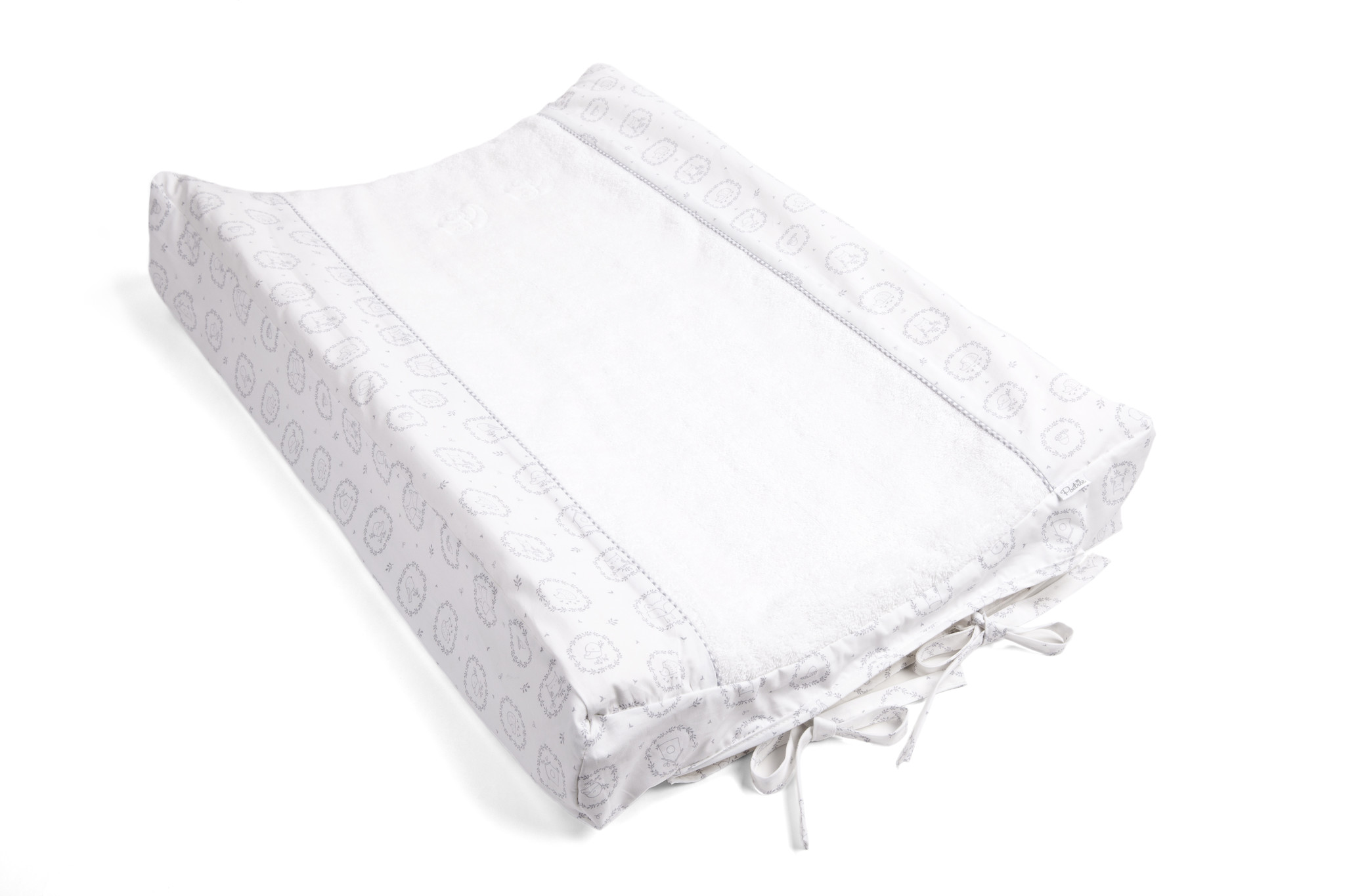 Changing mat cover Little Forest Grey-2