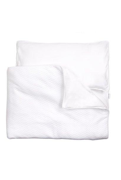 Crib / Playpen Duvet Cover & Pillow case Chevron White