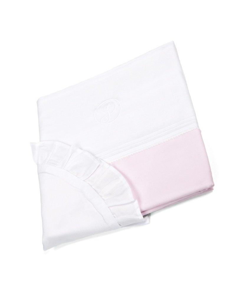 Wieg/box dekbedovertrek & kussensloopje Oxford Soft Pink