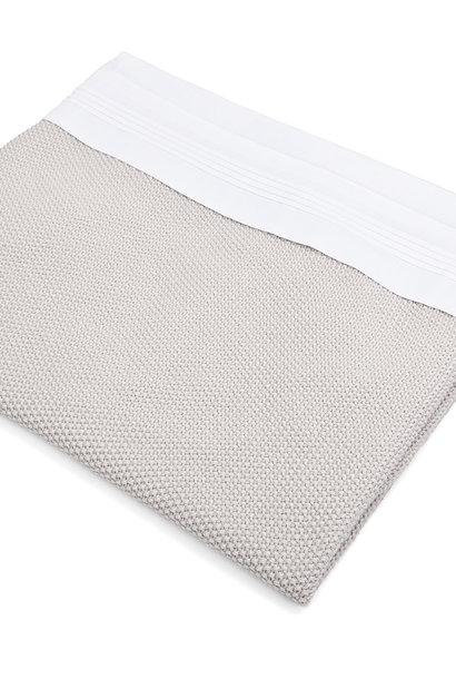 Crib sheet & half fitted sheet White