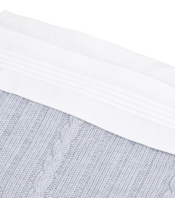 Crib sheet & half fitted sheet  White-2