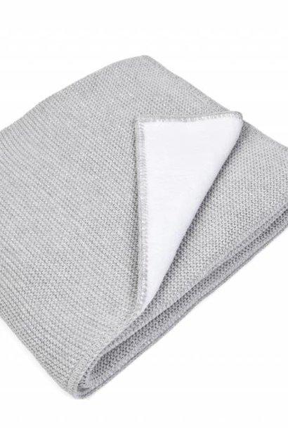 Cot blanket lined with soft sparkle Light Grey Melange