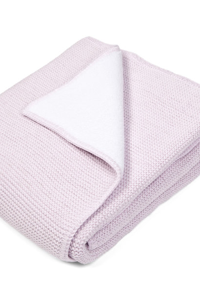 Cot blanket Lined, with soft sparkle Pink