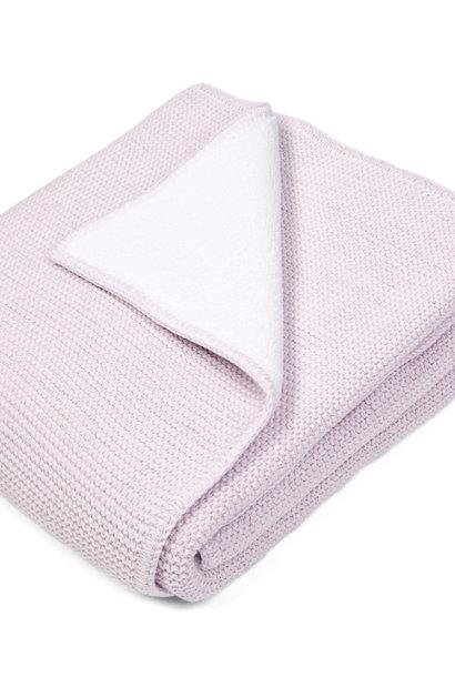 Ledikant deken gevoerd met zachte glans Pink