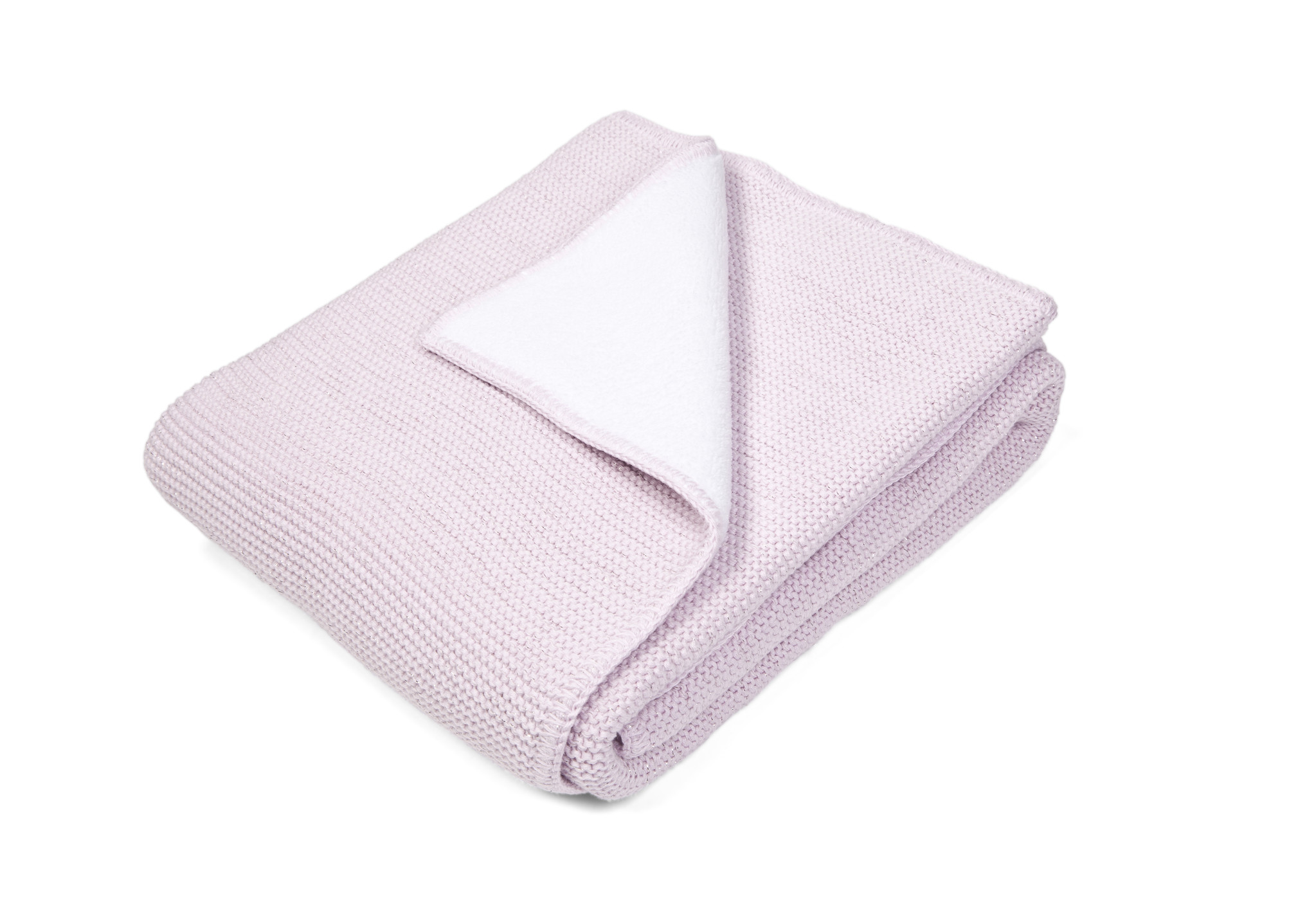 Ledikant deken gevoerd met zachte glans Pink-1