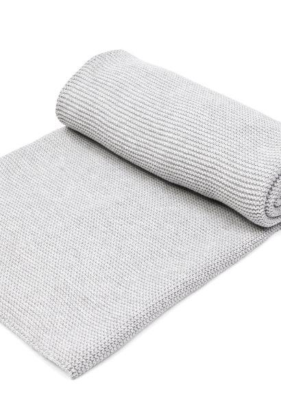 Crib blanket with soft sparkle  Light Grey Melange