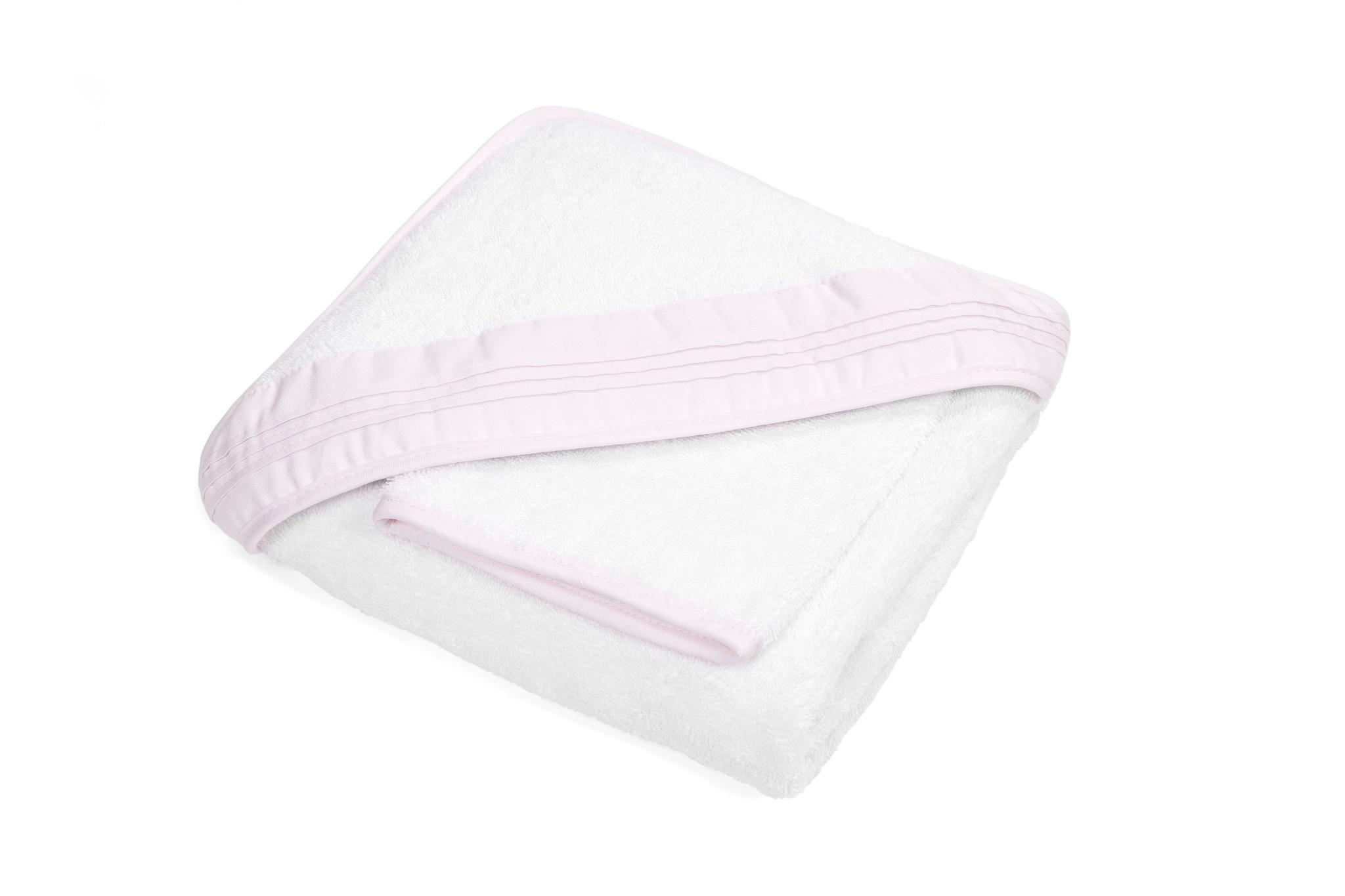 Hooded towel & washcloth Oxford Soft Pink-2