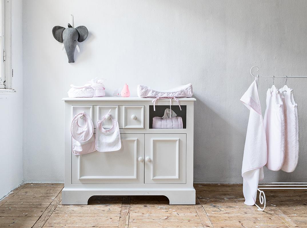 Hooded towel & washcloth Oxford Soft Pink-4
