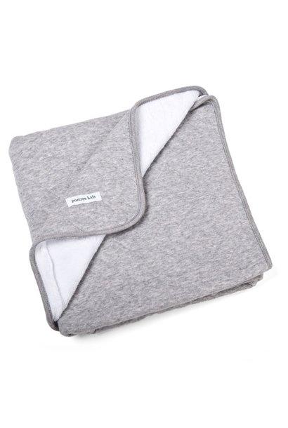 Crib blanket lined Star Grey Melange
