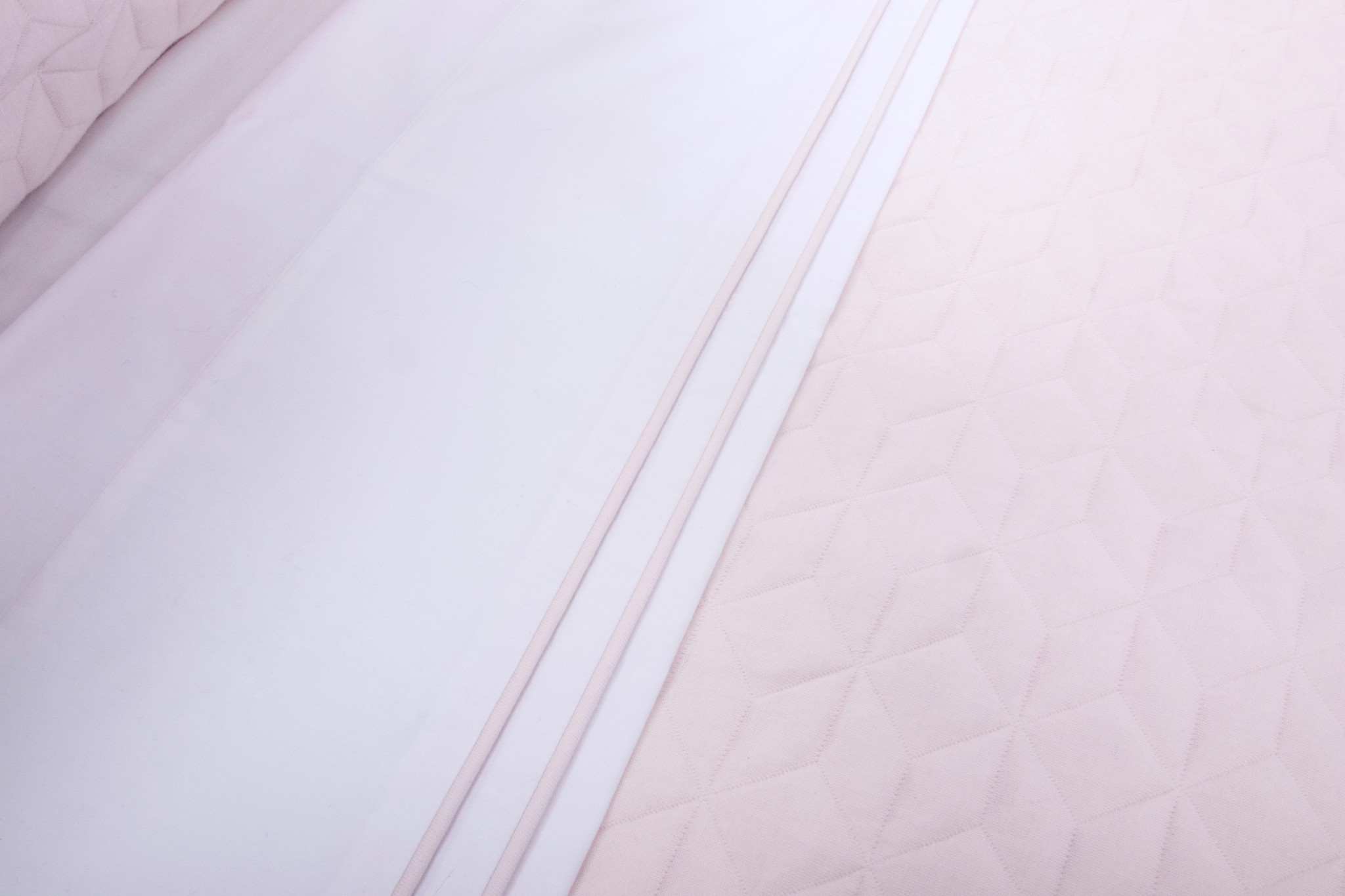Cot Blanket lined Star Soft Pink-2