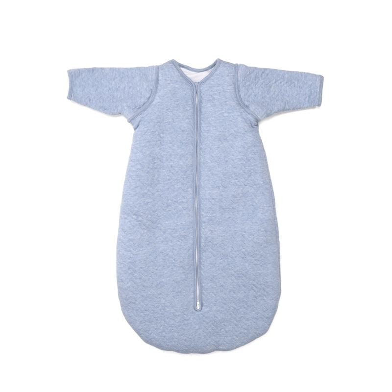 Jersey slaapzak 70cm met afritsbare mouwen Chevron Denim Blue-1
