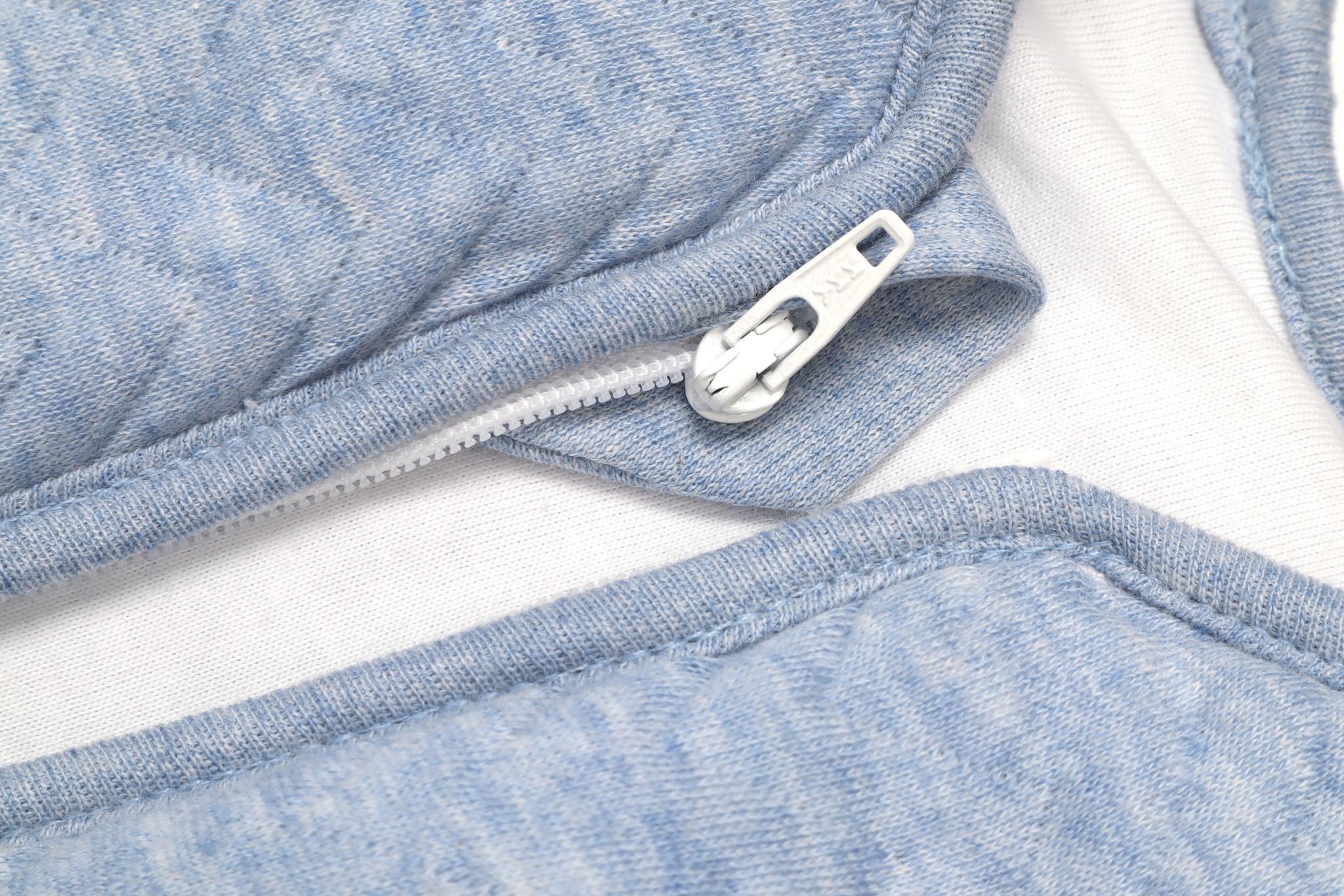 Jersey slaapzak 70cm met afritsbare mouwen Chevron Denim Blue-2