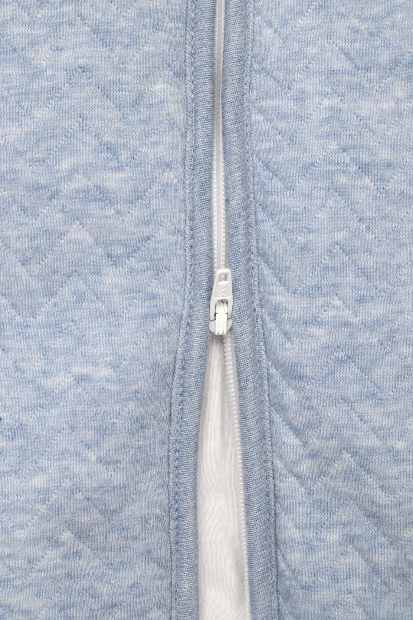 Jersey slaapzak 70cm met afritsbare mouwen Chevron Denim Blue-4