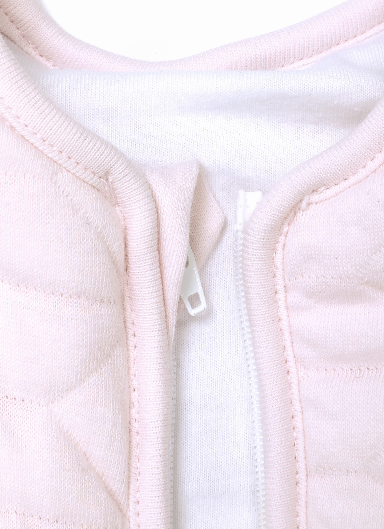 Jersey slaapzak 70cm met afritsbare mouwen Star Soft Pink-2