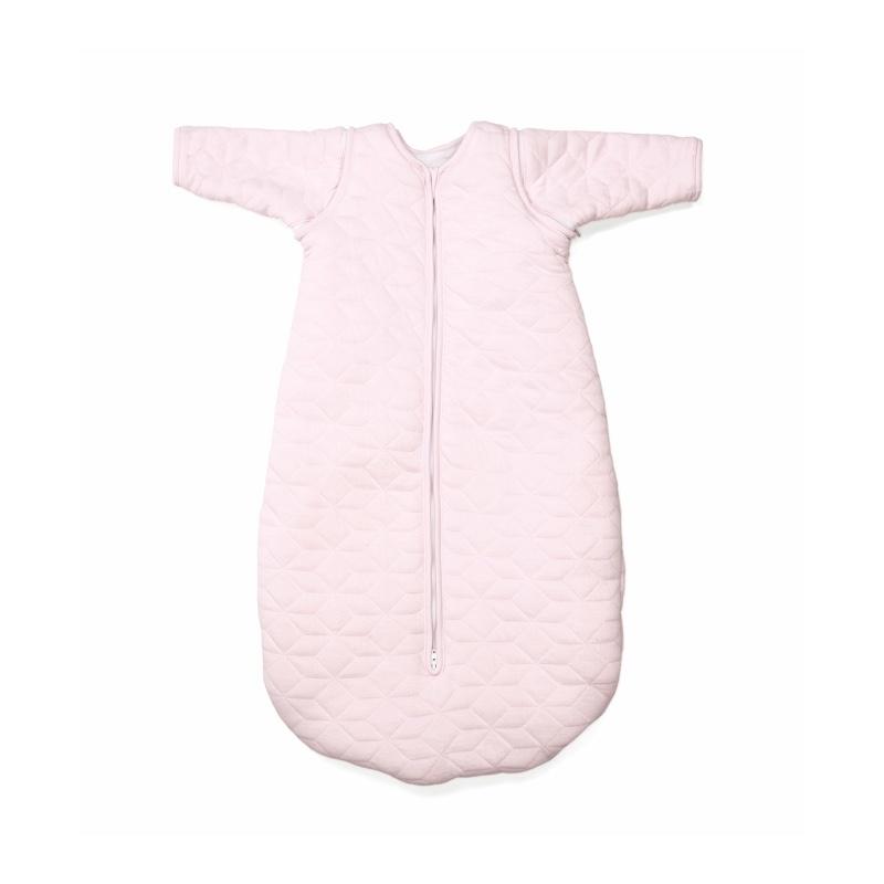 Jersey slaapzak 70cm met afritsbare mouwen Star Soft Pink-1