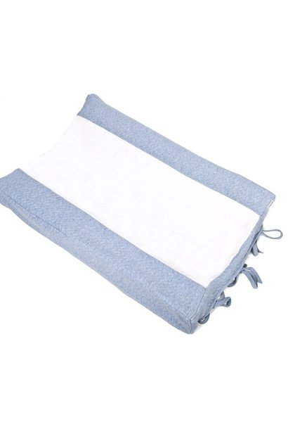 Changing mat cover Chevron Denim Blue