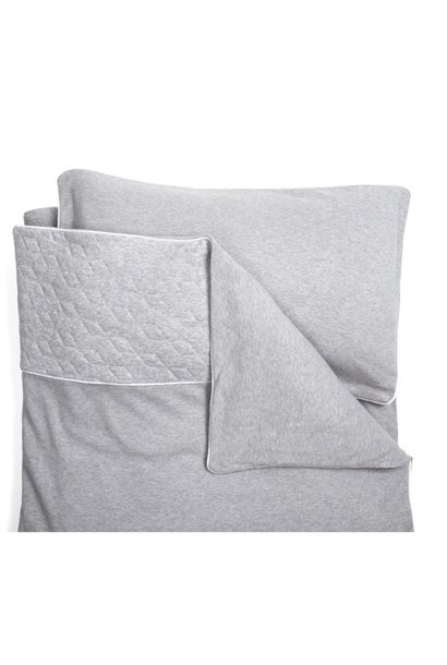 Crib / Playpen Duvet Cover & Pillow case Star Grey Melange