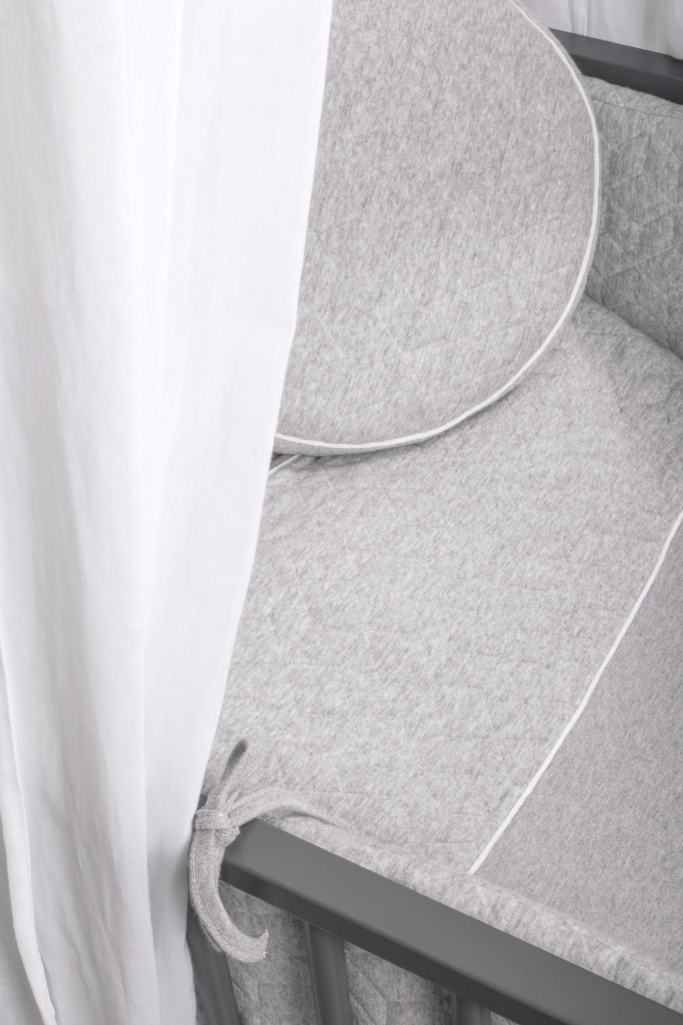 Housse de Couette  80x80cm & Taie d'oreiller Star Grey Melange-4