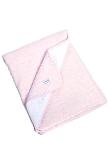 Cot Blanket lined Star Soft Pink
