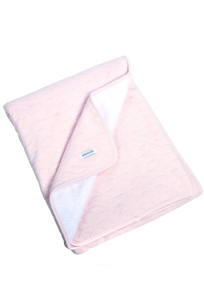 Cot Blanket lined Star Soft Pink
