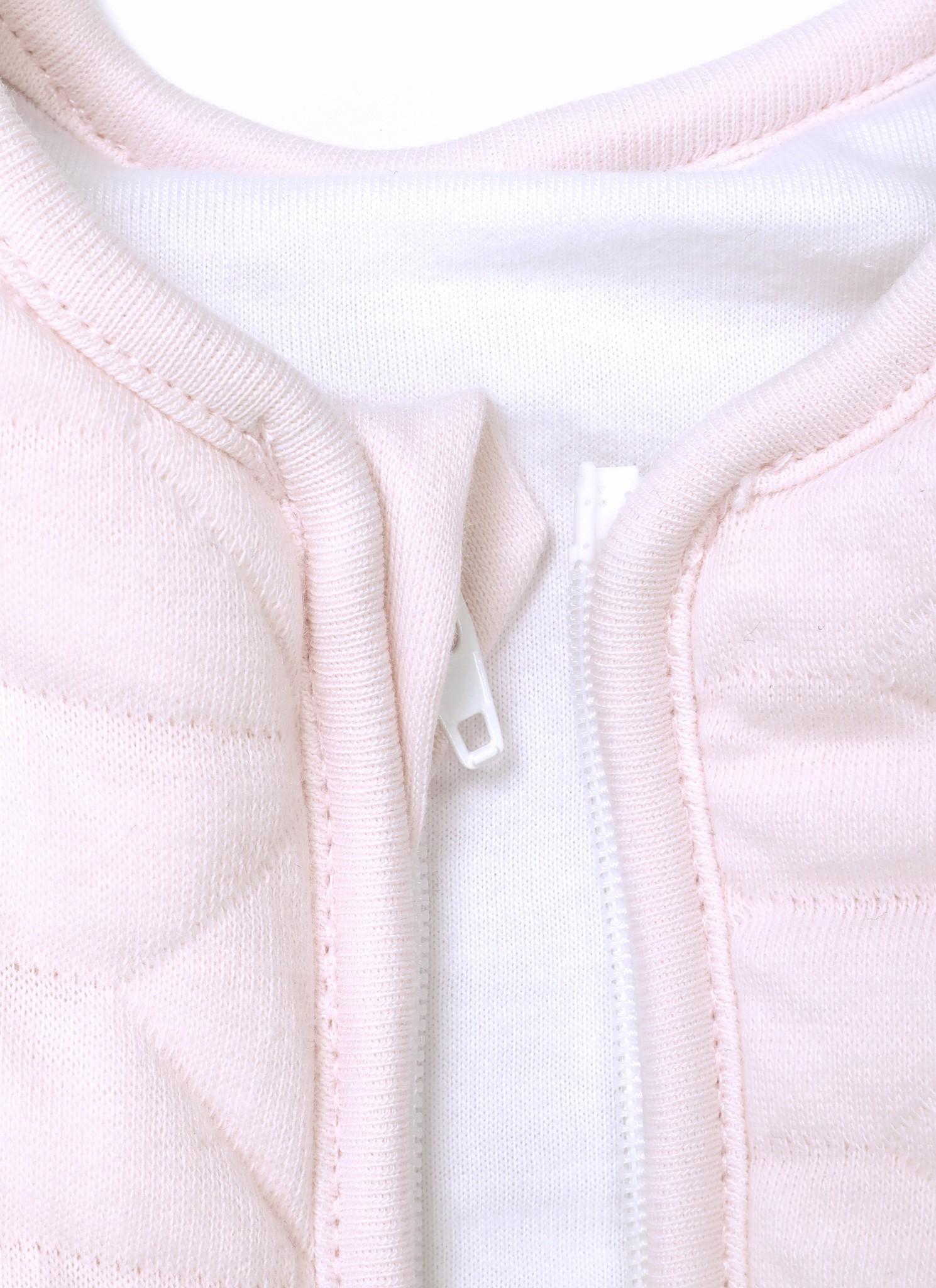 Jersey slaapzak 90cm met afritsbare mouwen Star Soft Pink-4