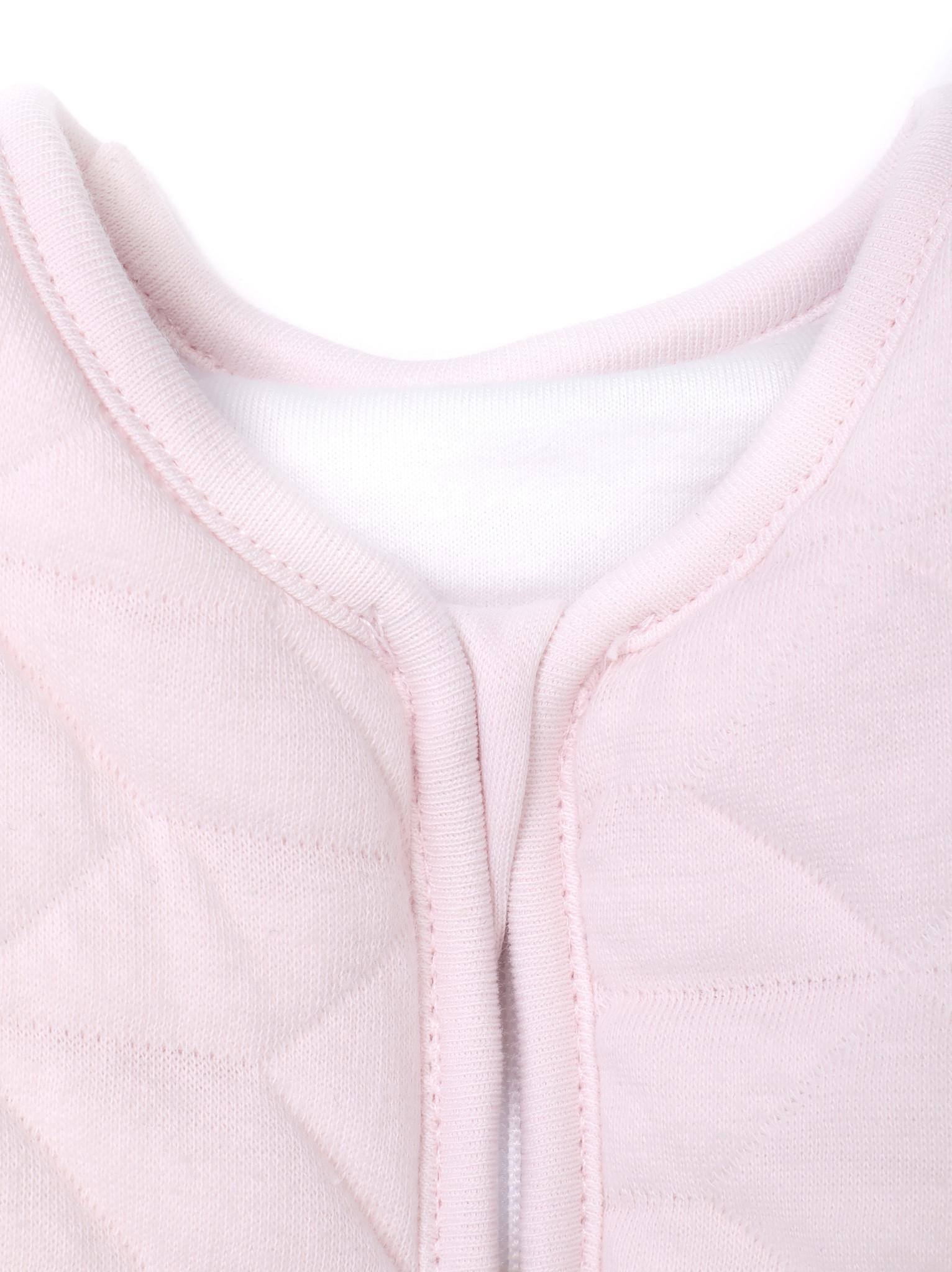 Jersey slaapzak 90cm met afritsbare mouwen Star Soft Pink-5