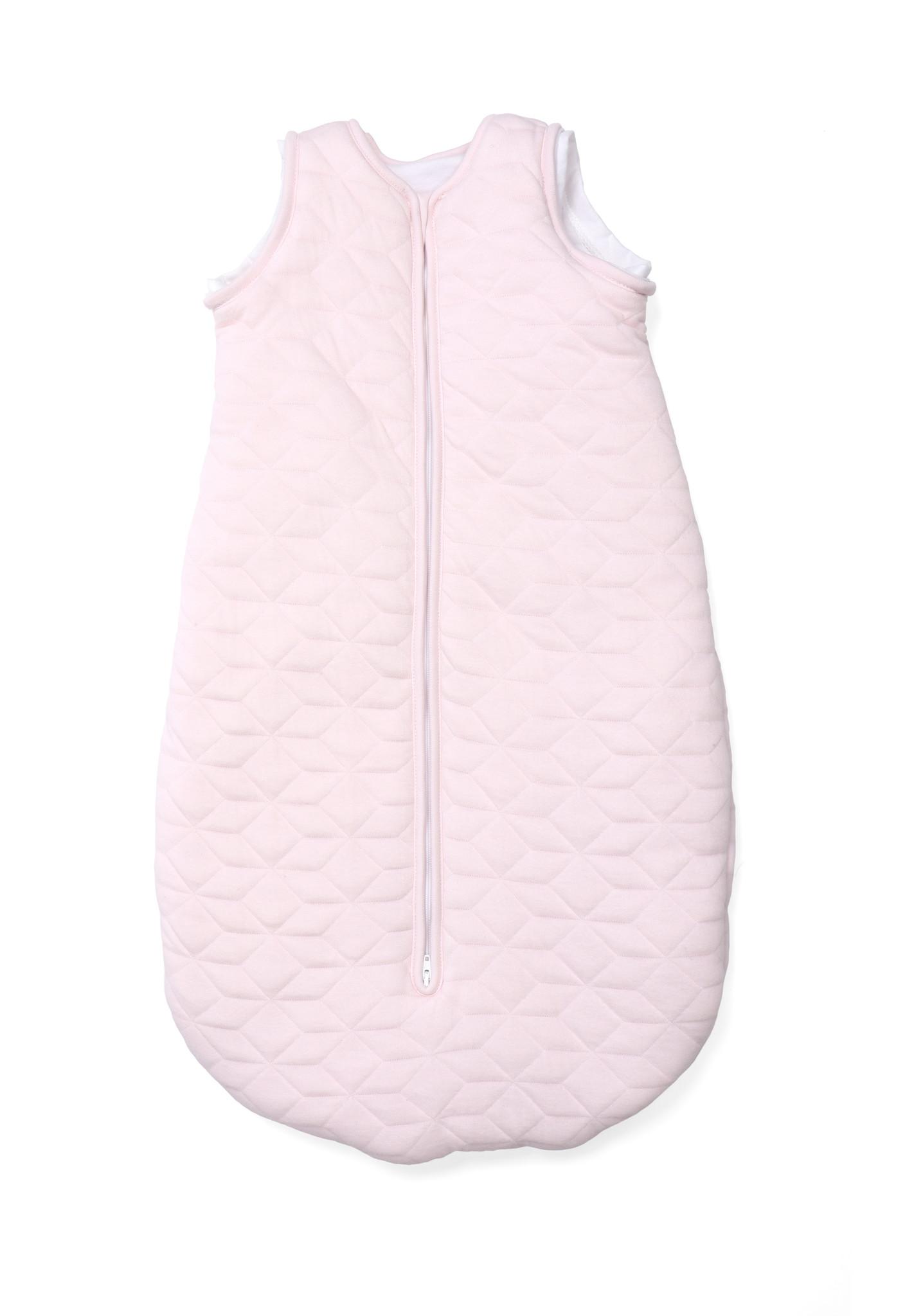 Jersey slaapzak 90cm met afritsbare mouwen Star Soft Pink-3