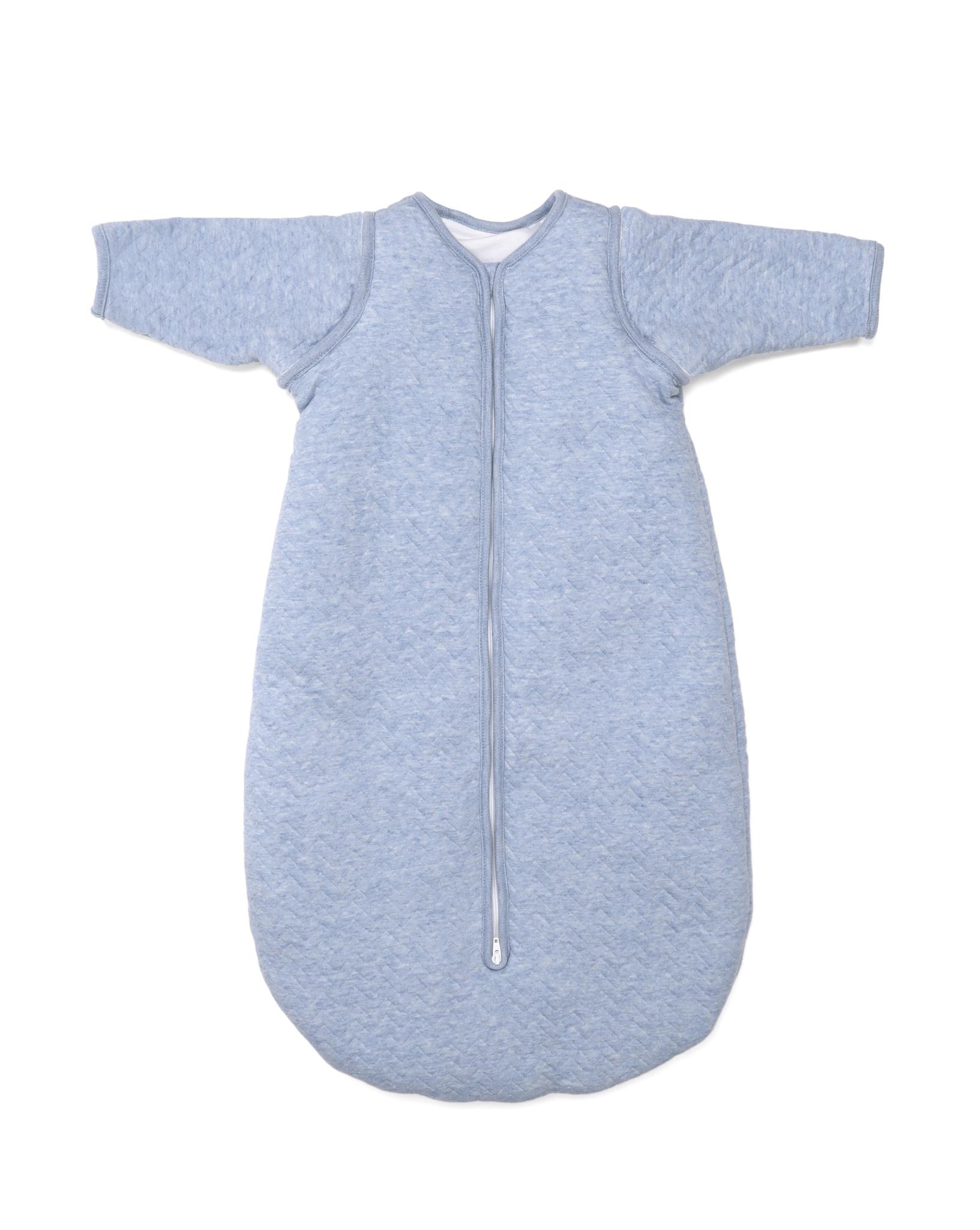 Jersey slaapzak 90cm met afritsbare mouwen Chevron Denim Blue-6