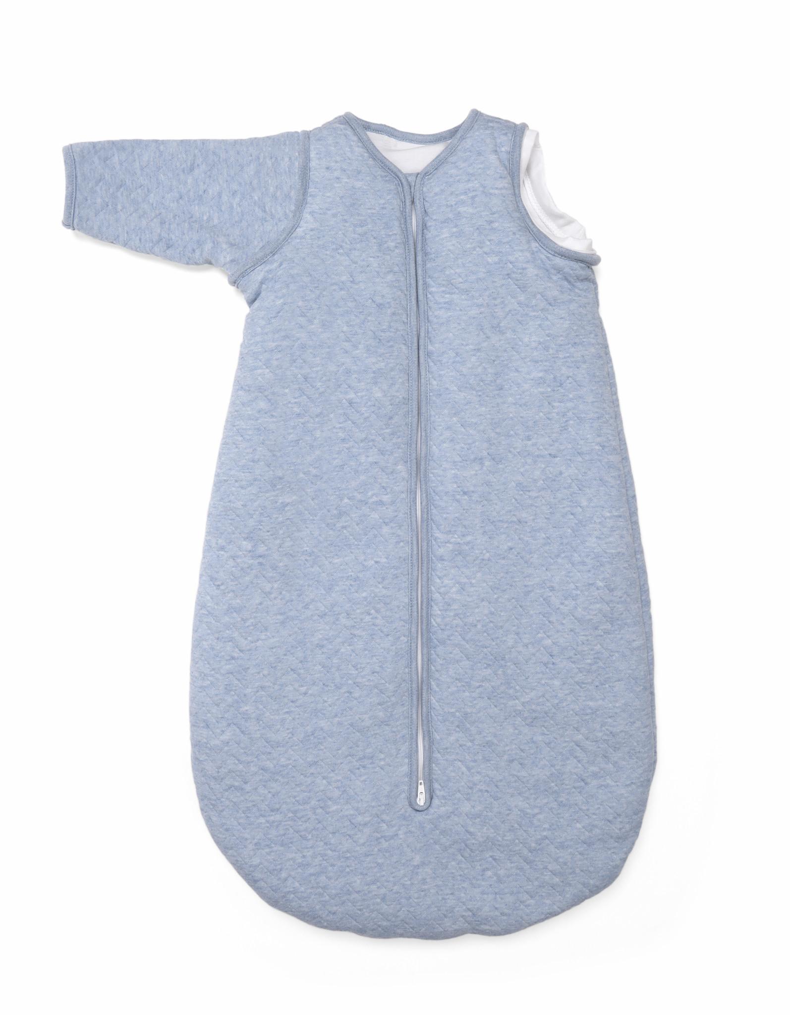 Jersey slaapzak 90cm met afritsbare mouwen Chevron Denim Blue-2