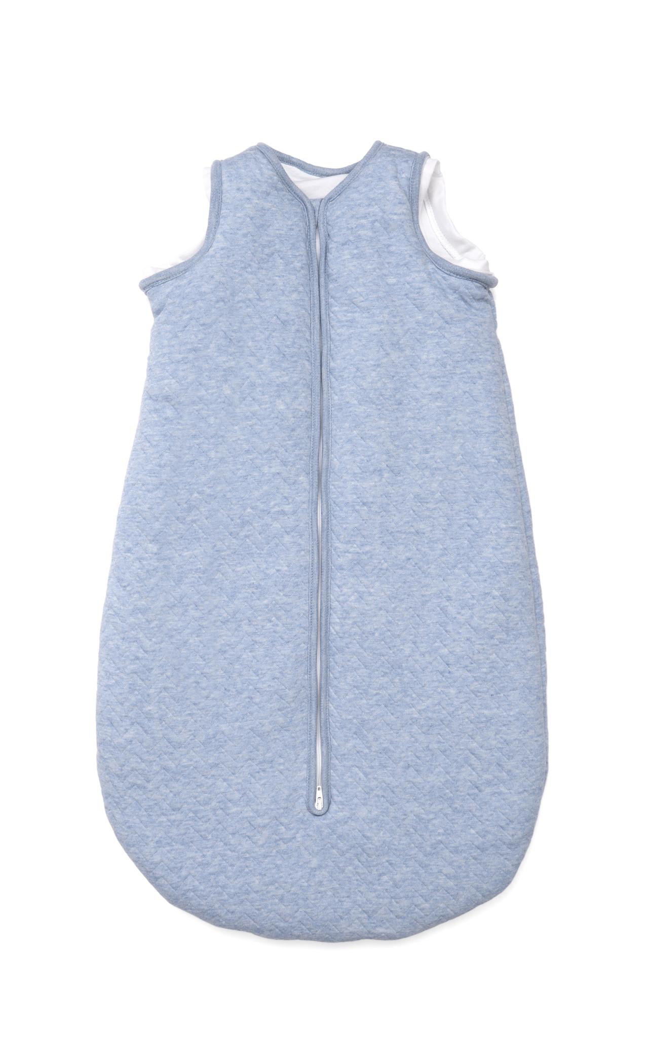 Jersey slaapzak 90cm met afritsbare mouwen Chevron Denim Blue-3