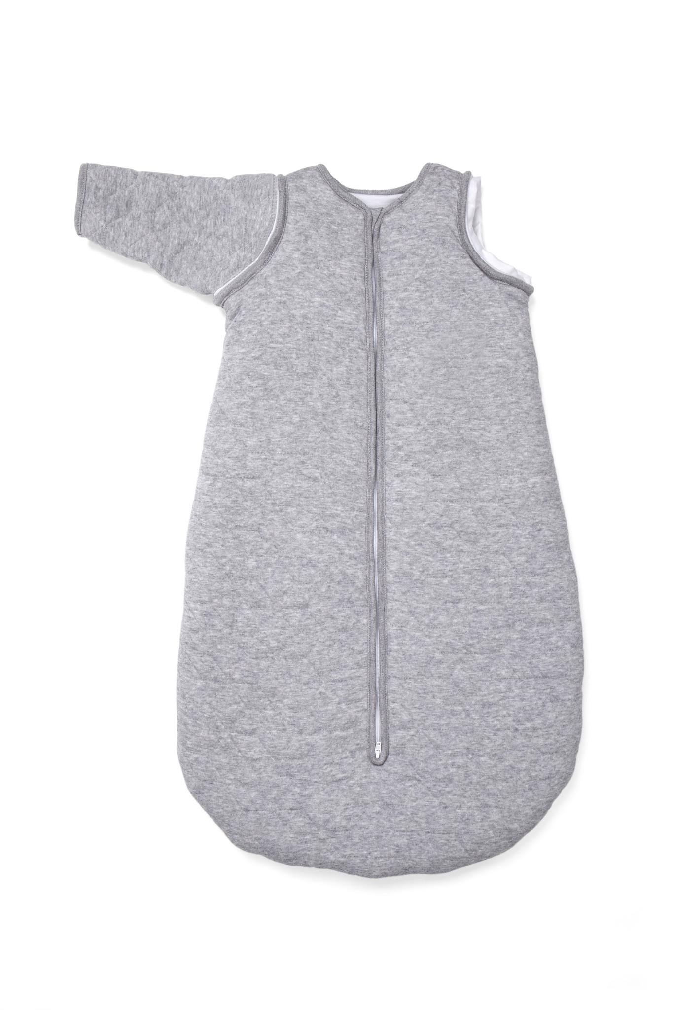 Jersey slaapzak 90cm met afritsbare mouwen Star Grey Melange-4