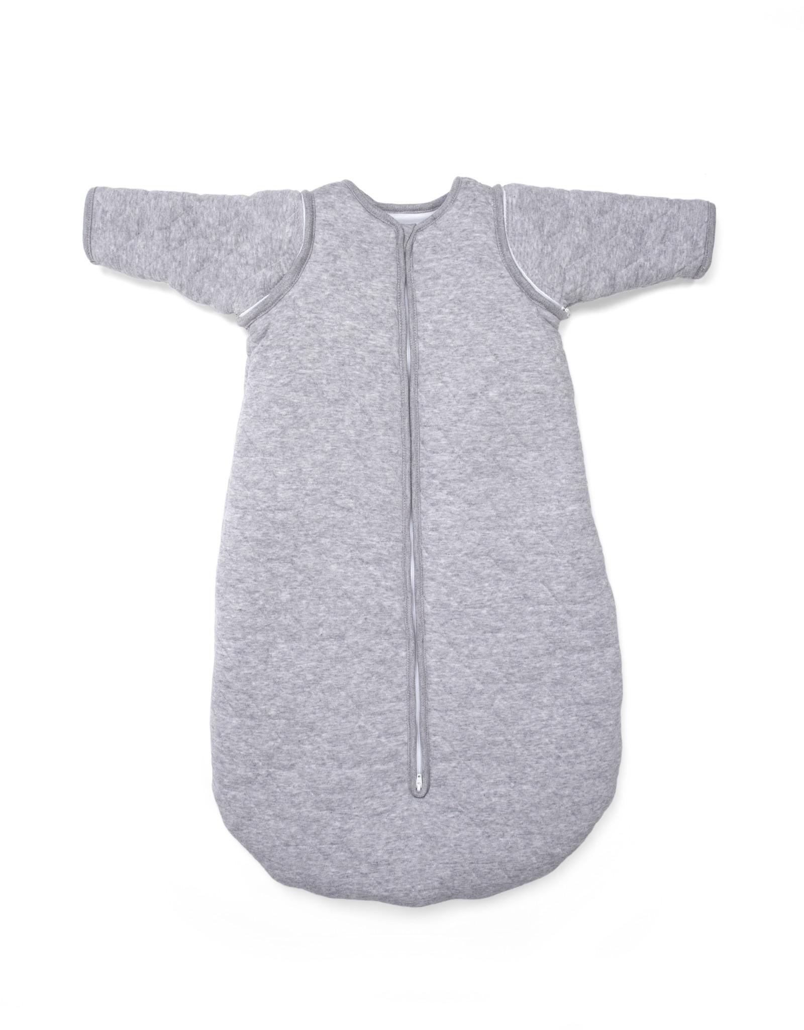 Jersey slaapzak 90cm met afritsbare mouwen Star Grey Melange-7