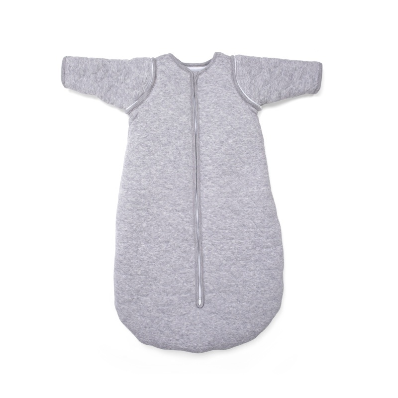 Jersey slaapzak 90cm met afritsbare mouwen Star Grey Melange-1