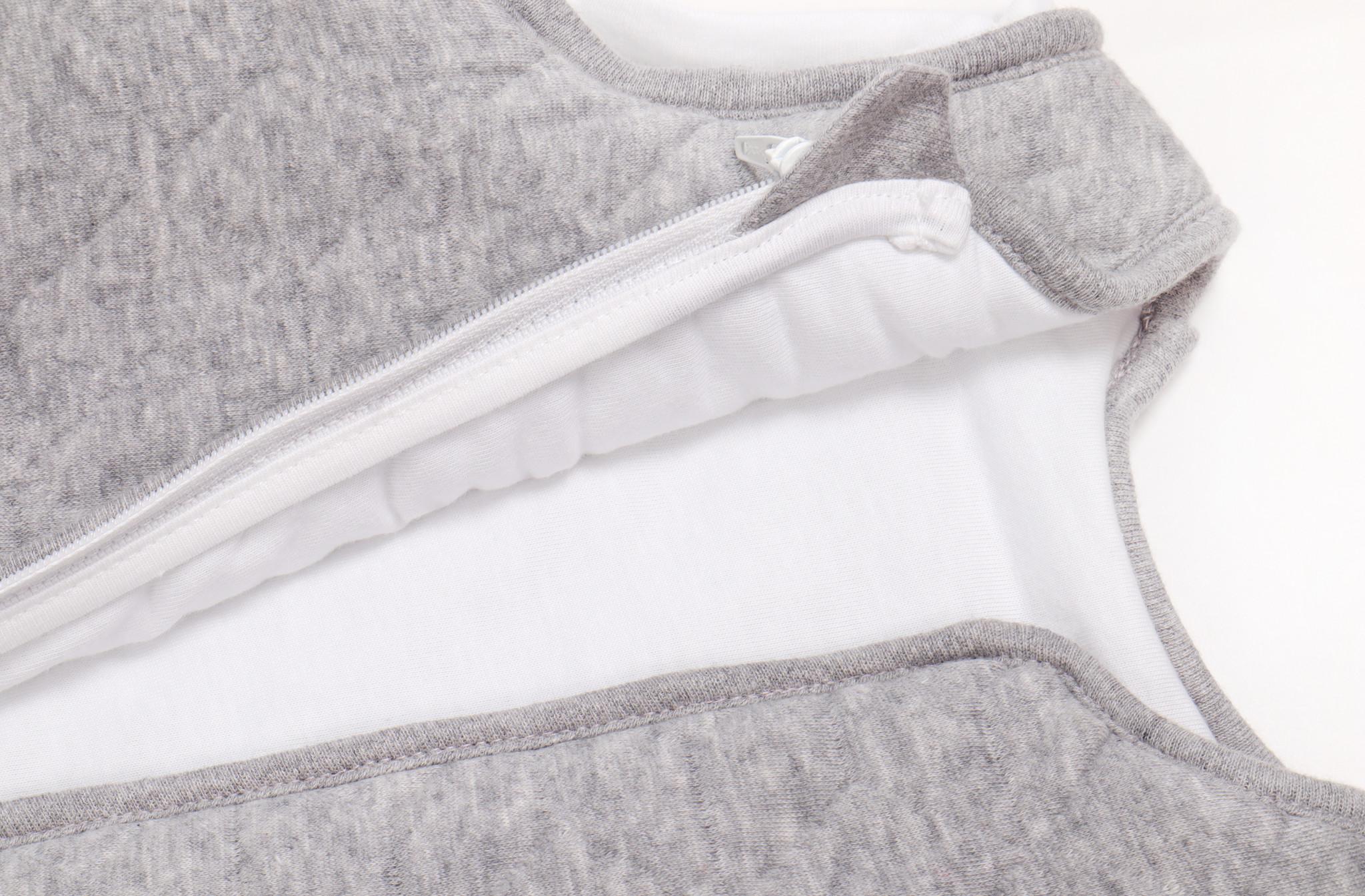 Jersey slaapzak 90cm met afritsbare mouwen Star Grey Melange-2