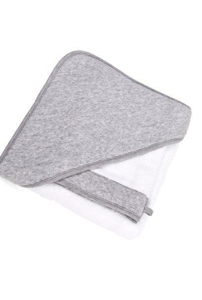 Hooded towel & washcloth Star grey melange