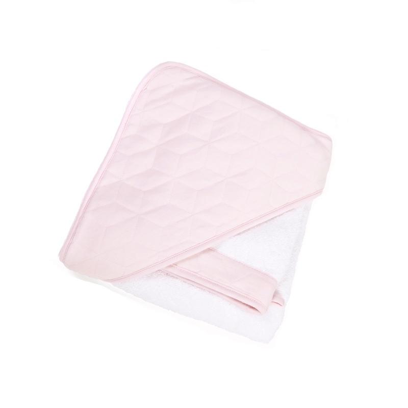 Badcape & washandje Star soft pink-1