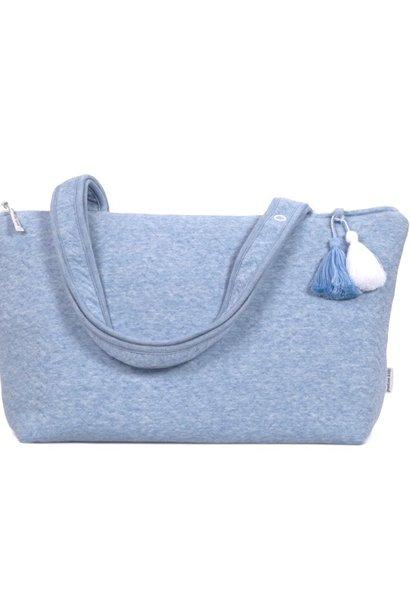 Nursery bag Chevron Denim Blue
