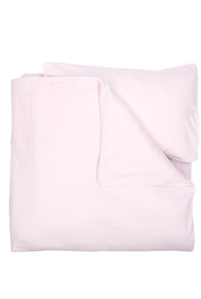 Crib / Playpen Duvet Cover set 80x80cm Star Soft Pink