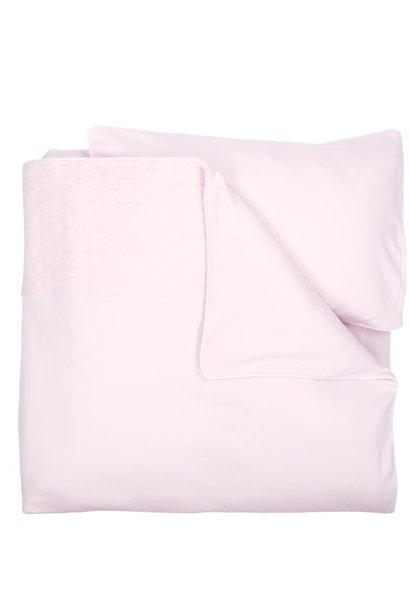 Wieg / Park Dekbedovertrek & kussensloop Star Soft Pink