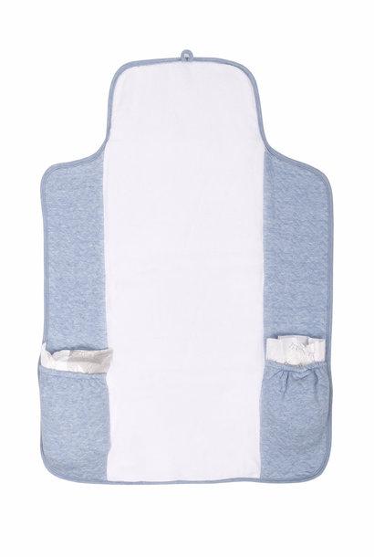 Portable changingmat Chevron Denim Blue