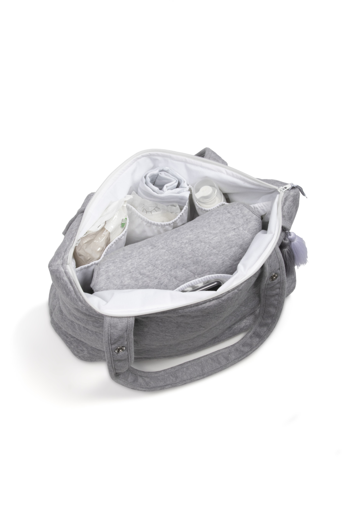 Portable changingmat Star Grey Melange-3