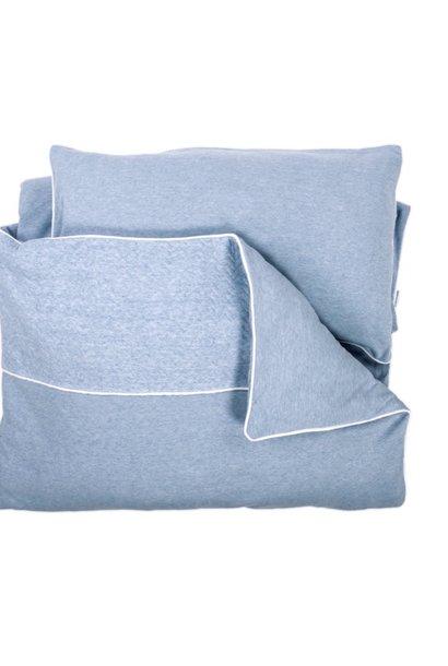 Duvet Cover & Pillow case Chevron Denim Blue
