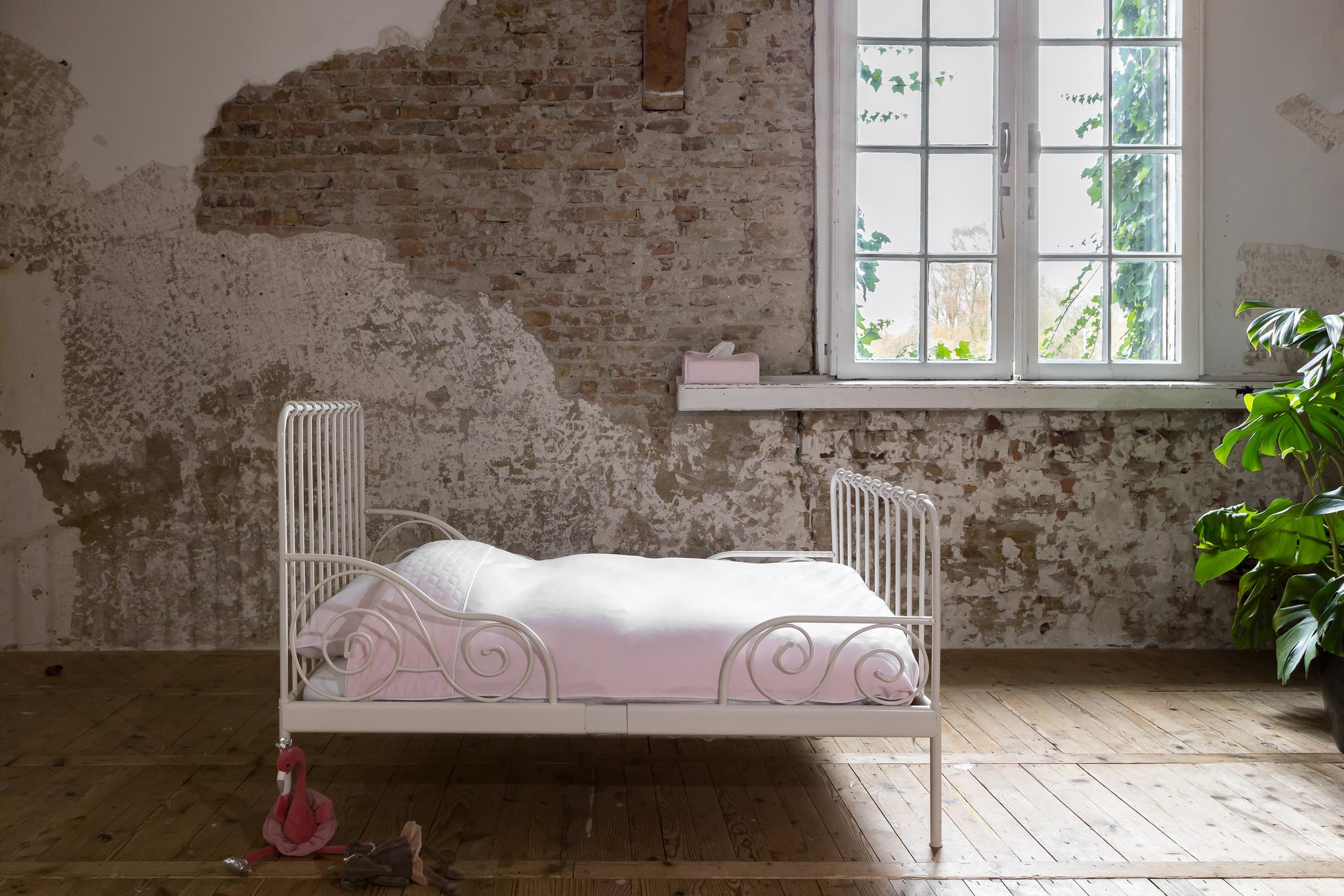 Dekbedovertrek & kussensloop 100x140cm Star Soft Pink-4